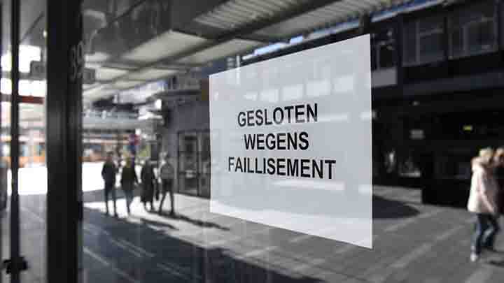 Aantal faillissementen gestegen in april